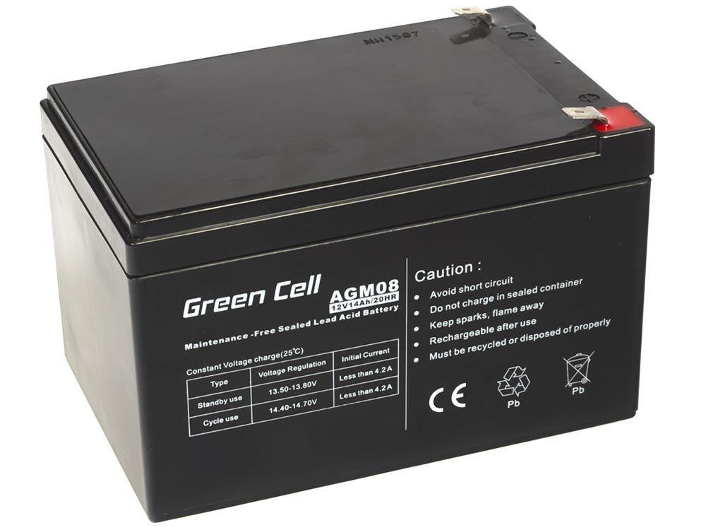 Green Cell agm batteri 12V 14Ah