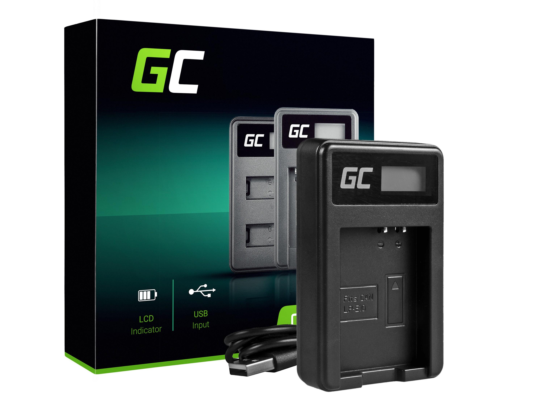 Green Cell Batteri laddare LC-E10 för Canon LP-E10, EOS Rebel T3, T5, T6, Kiss X50, Kiss X70, EOS 1100D, EOS 1200D, EOS 1300D