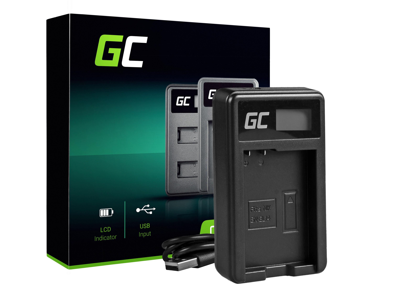 Green Cell Batteriladdare MH-24 för Nikon EN-EL14, D3200, D3300, D5100, D5200, D5300, D5500, Coolpix P7000, P7700, P7800