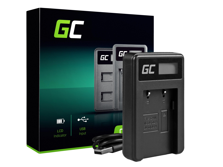 Green Cell batteriladdare CB-2LW för Canon NB-2L / NB-2LH, PowerShot G7 G9 S70 S80 R100 R11 Canon Elura 85 90 EOS 350D 400D