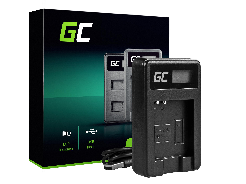 Green Cell batteriladdare CB-2LY för Canon NB-6L/6LH, PowerShot SX510 HS, SX520 HS, SX530 HS, SX600 HS, SX700 HS, D30