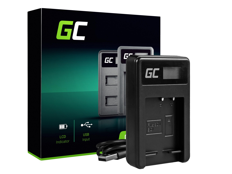 Green Cell batteriladdare BC-CSG för Sony NP-BG1/NP-FG1, DSC H10, H20, H50, HX5, HX10, T50, W50, W70