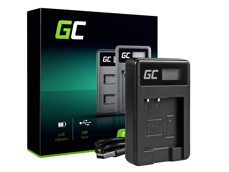 Green Cell batteriladdare BC-CSN för Sony NP-BN1, Cyber-Shot DSC-QX10 DSC-QX100 DSC-TF1 DSC-TX10 DSC-W530 DSC-W650 DSC-W800