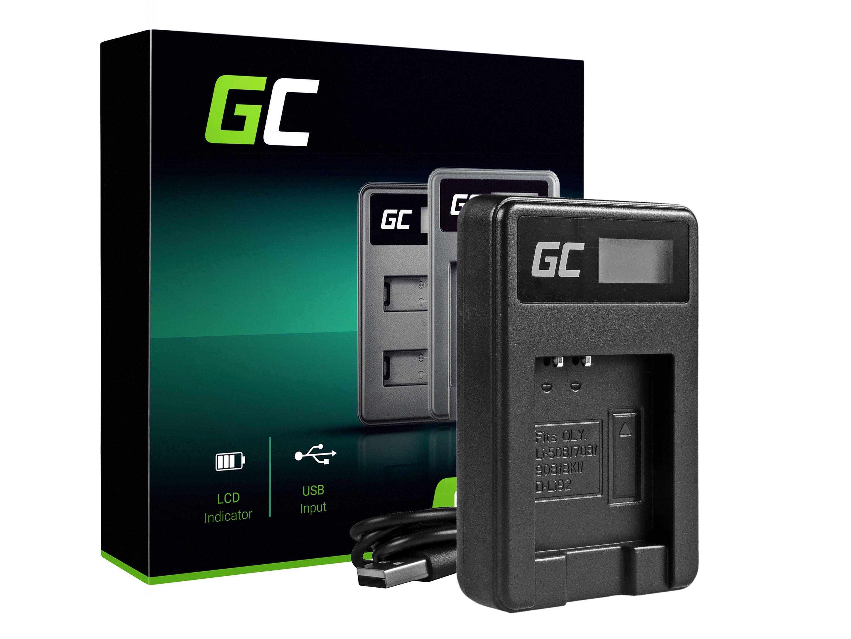 Green Cell Batteriladdare LI-50C för Olympus LI-50B, SZ-15, SZ-16, Tuff 6000, 8000, TG-820, TG-830, TG-850, VR-370