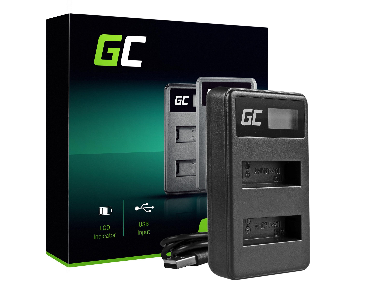 Green Cell batteriladdare AHBBP-401 för GoPro AHDBT-401, HD Hero4