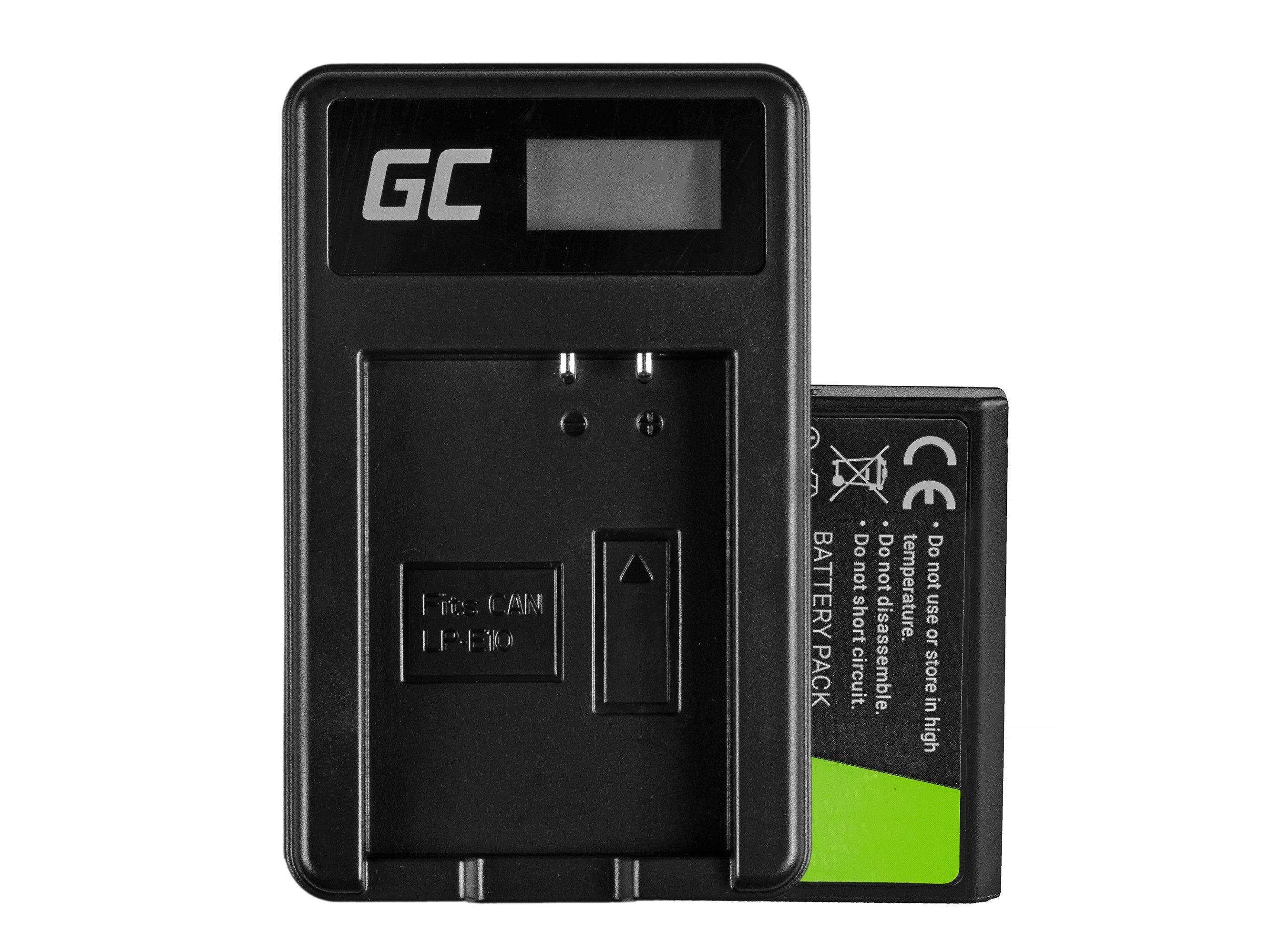 Battery LP-E10 and Charger LC-E10  for Canon EOS Rebel T3, T5, T6, Kiss X50, Kiss X70, EOS 1100D 7.4V 1100mAh