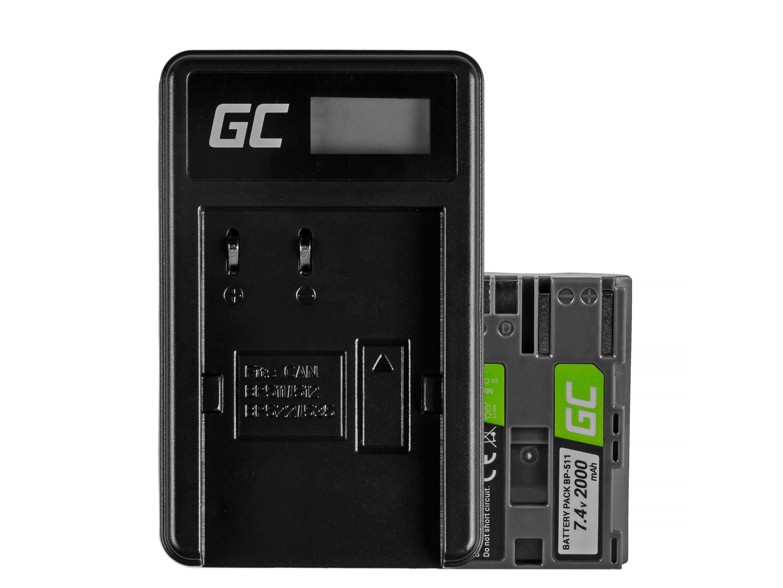 Battery BP-511 Charger CB-5L  for Canon EOS 5D, 10D, 20D, 30D, 50D, D30, 300D, PowerShot G1, G2 7.4V 1600mAh