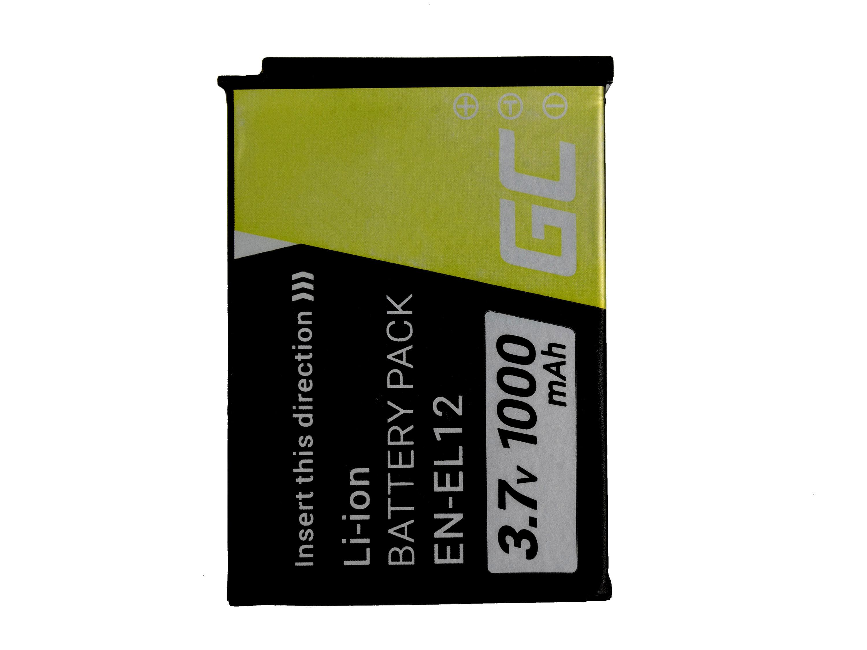 Green Cell Digital Kamera Batteri för Nikon Coolpix AW100 AW110 AW120 S9500 S9300 S9200 S9100 S8200 S8100 S6300 3.7V 1000mAh