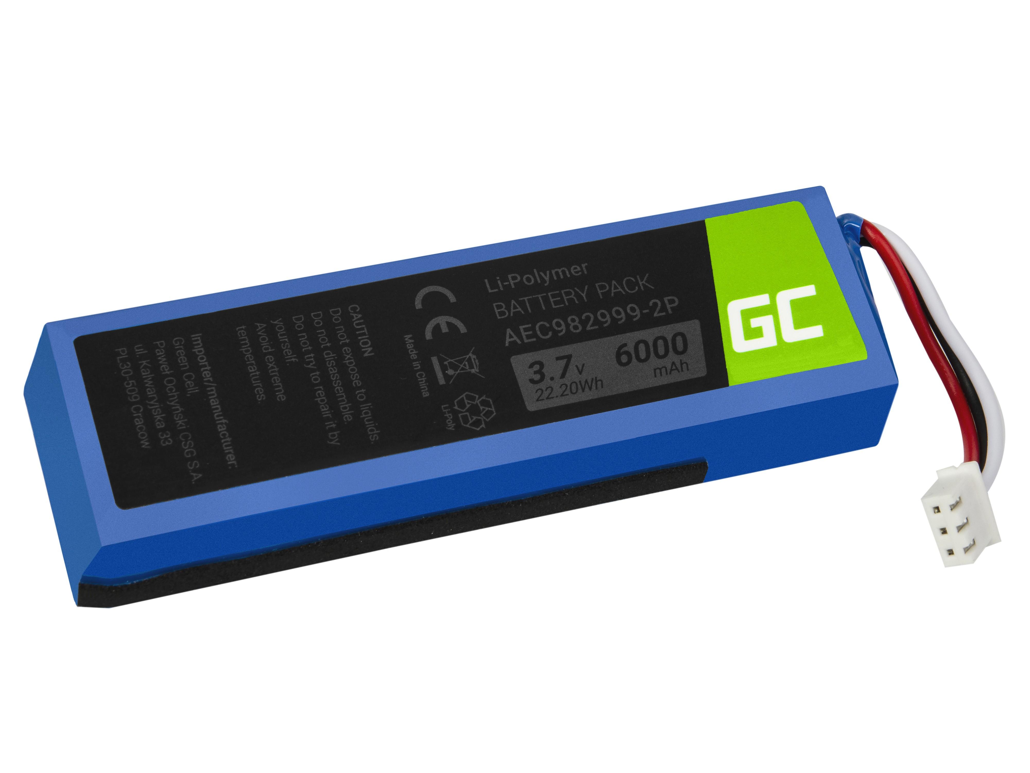 Green Cell AEC982999-2P högtalarbatteri för JBL-laddning
