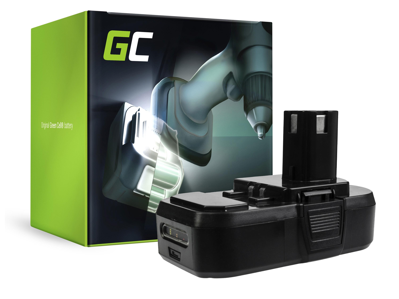 Green Cellverktygsbatteri ONE+ RB18L50 RB18L15 RYOBI R18AG0 R18JS0 R18PDBL RCD18022L RID1801M RMT1801M