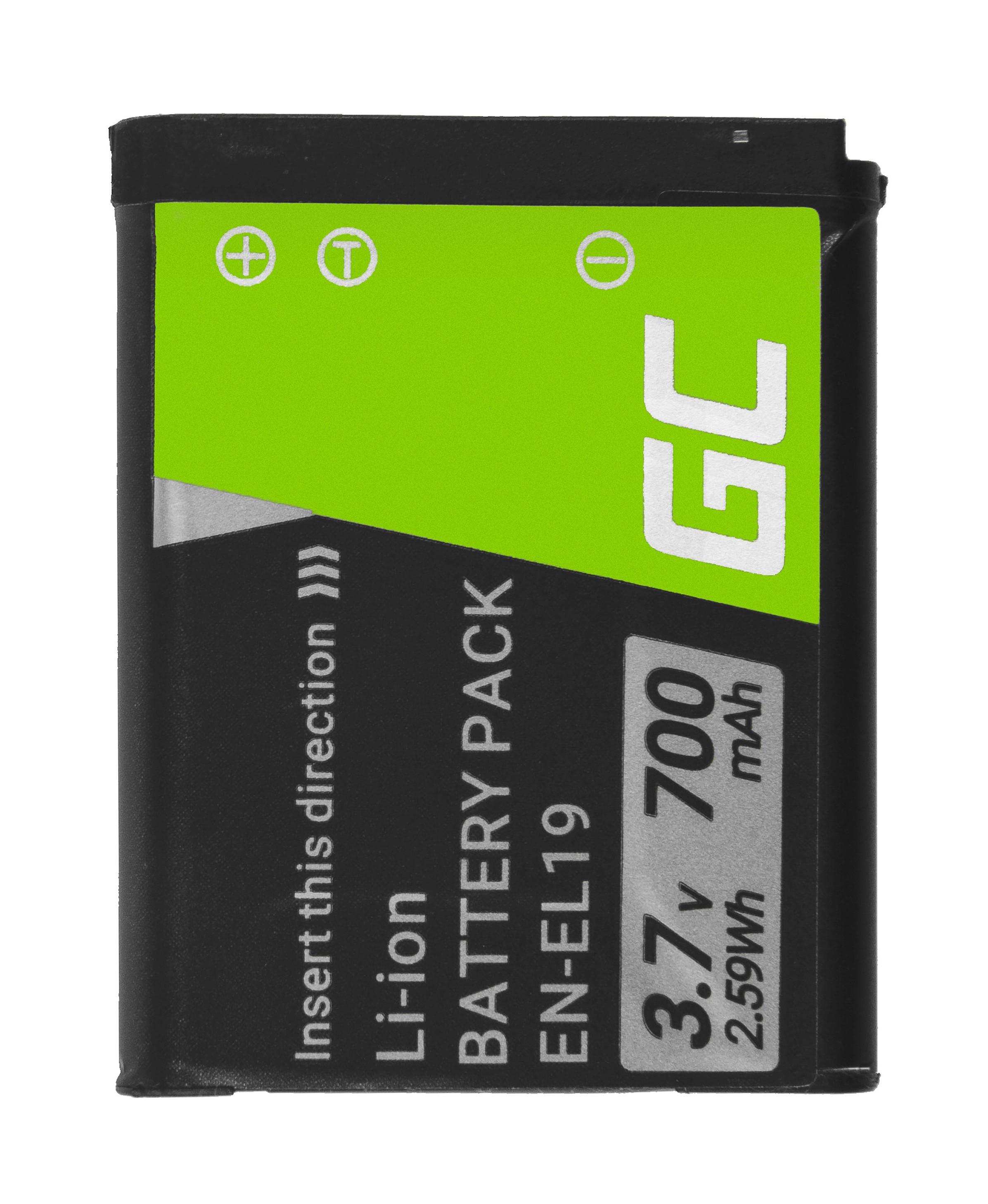 Green Cell kamera batteri för Nikon Coolpix