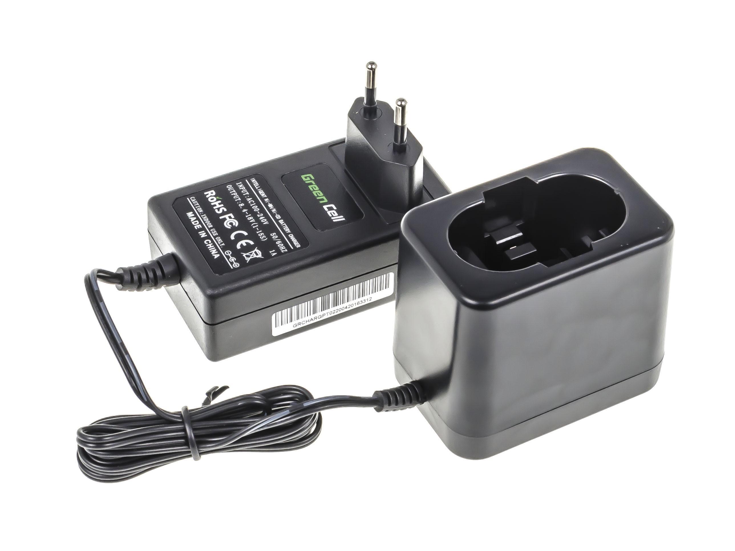 Green Cell batteriladdare för energiverktyg för Bosch 8.4V -18V Ni-MH Ni-Cd
