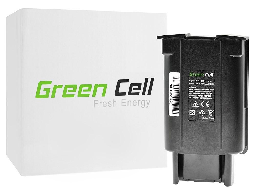Green Cell dammsugare batteri för Karcher EB 30/1 Elektrisk kvast 7.2V 1500mAh