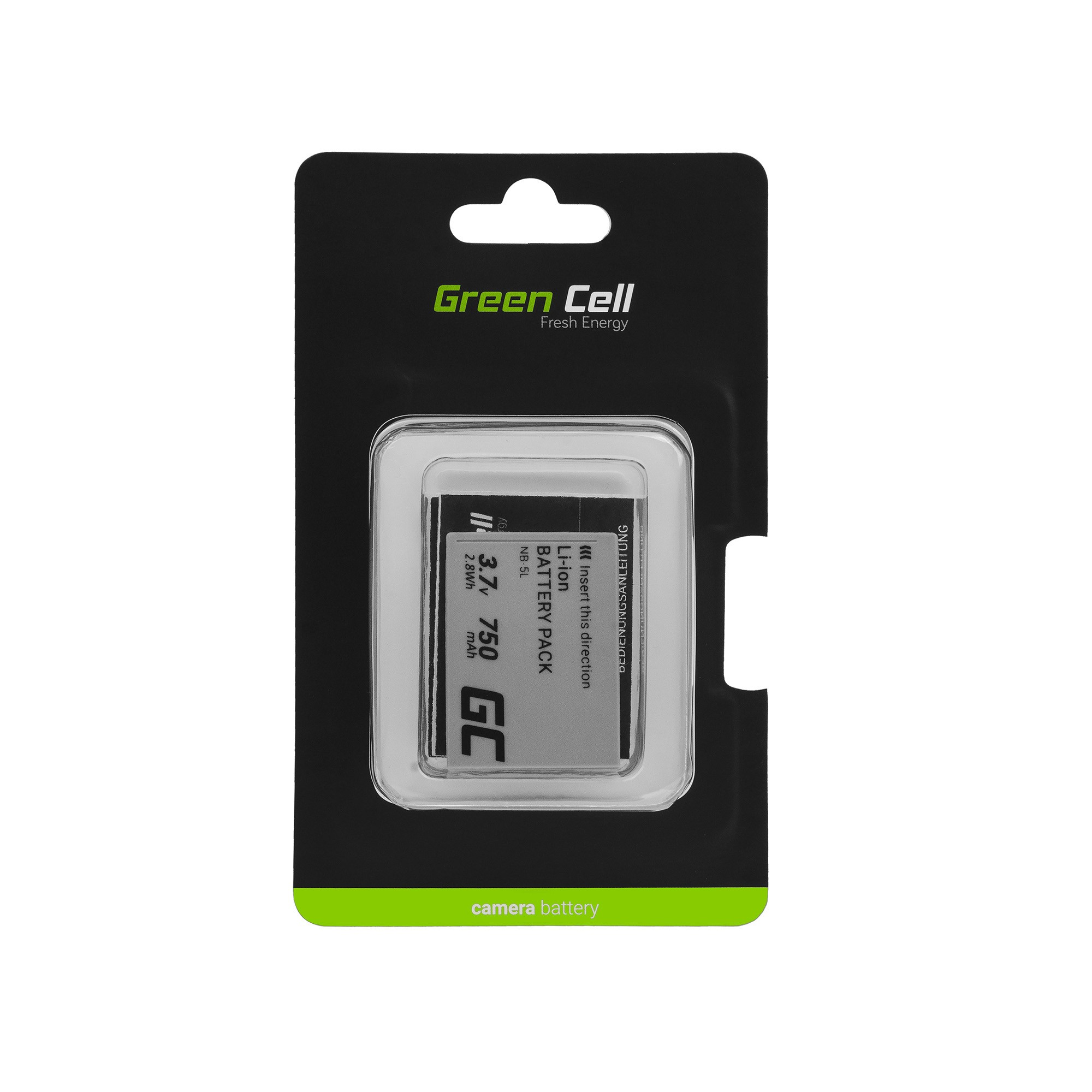 Batterier NB-5L Green Cell Zur Kamera Canon Digital IXUS 800 860 Digital IXY 800 2000 Powershot S110 SD790