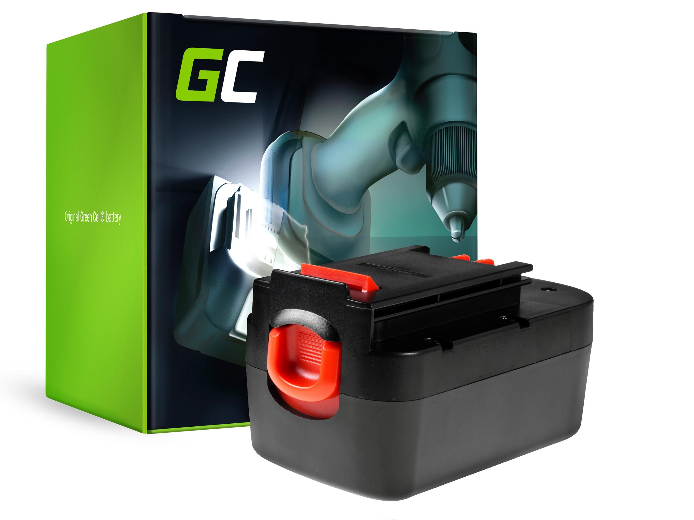 Green Cell batteri för motorverktyg för Black&Decker A18 A1718 HPB18 18V 3Ah