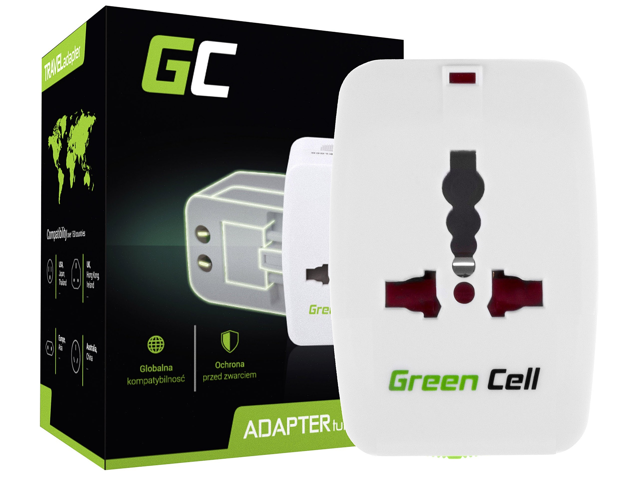 Green Cell universaladapter till eluttag