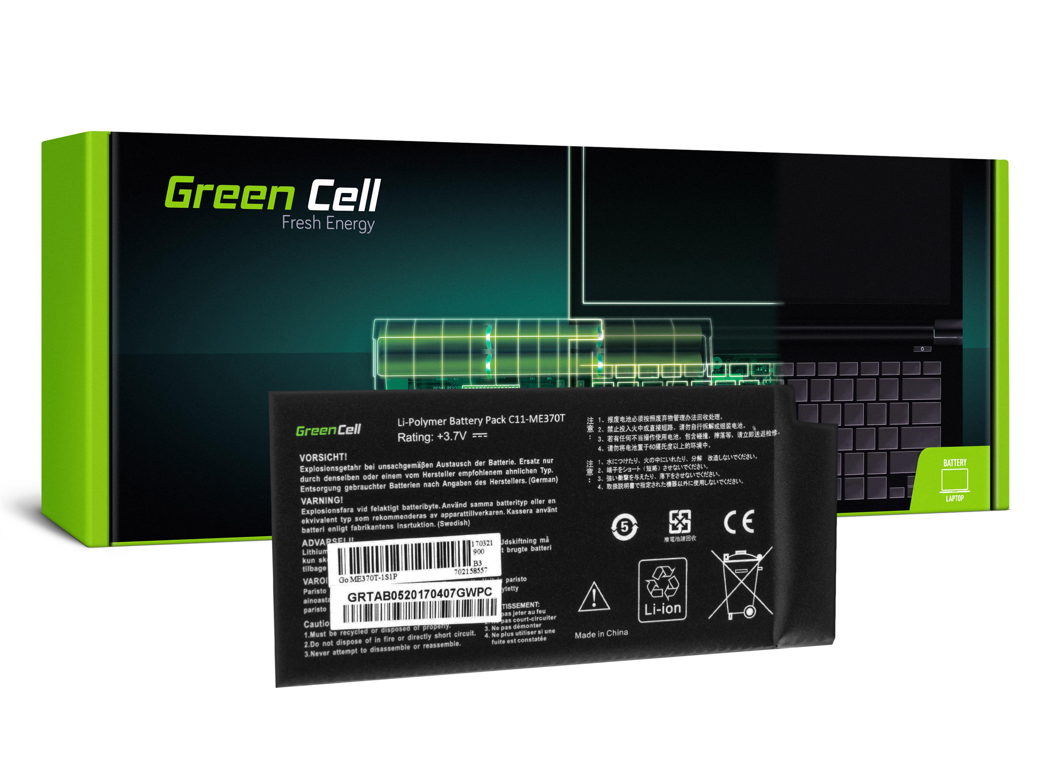 Batteri Green Cell C11-ME370T för Asus Google Nexus 7