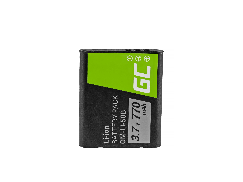Batteri Green Cell Li-50B för Olympus SZ-15, SZ-16, Tough 6000, 8000, TG-820, TG-830, TG-850, VR-370, XZ-1, XZ-10 3.7V 770mAh