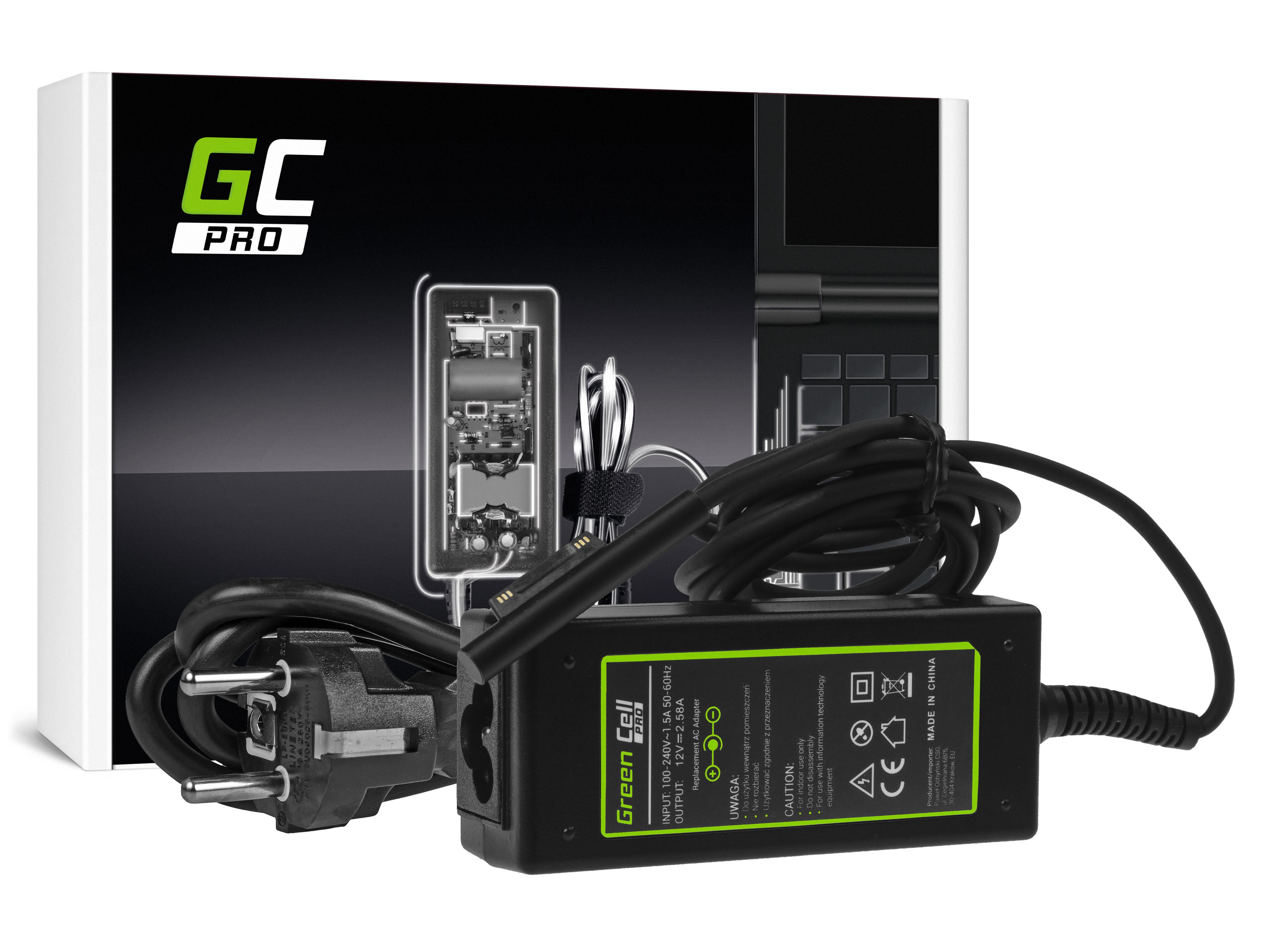 Green Cell PRO Laddare nätadapter för Microsoft Surface Pro 3 i Pro 4 36W / 12V 2,58A / Magnetisk