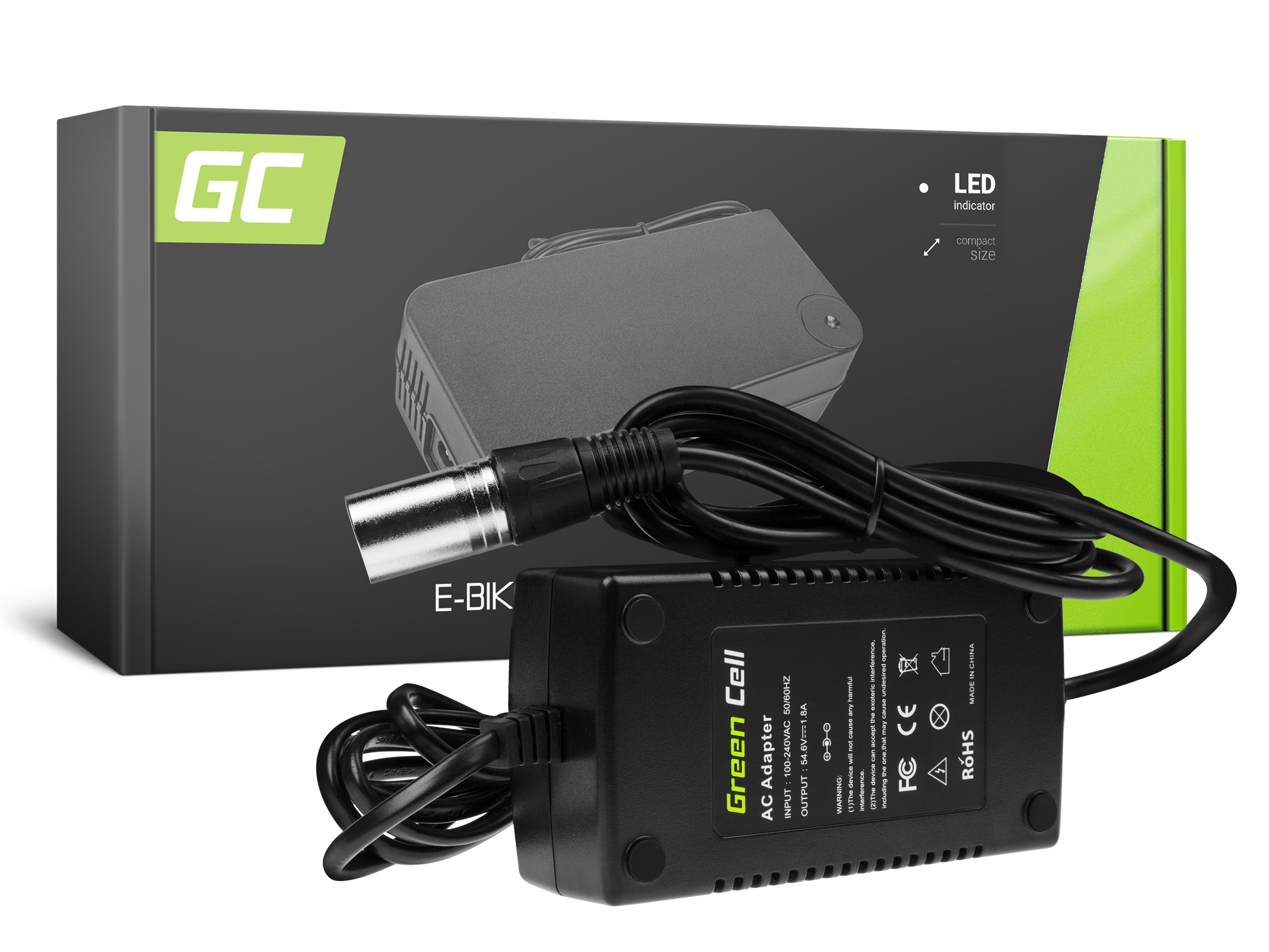 Green Cell Laddare 54.6V 1.8A (Cannon) för EBIKE batterier 48V