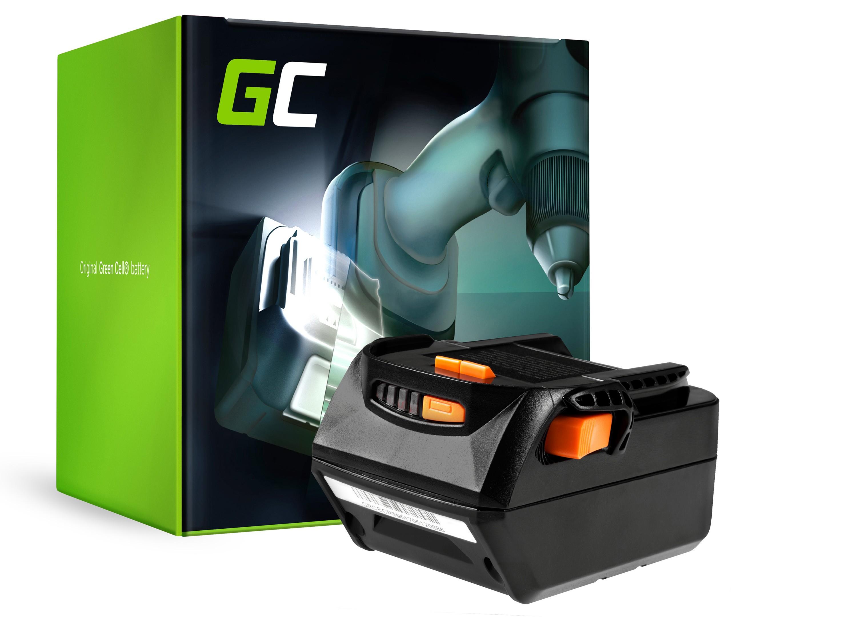 Green Cellverktygsbatteri för AEG L1830R B1820R 18V 4Ah