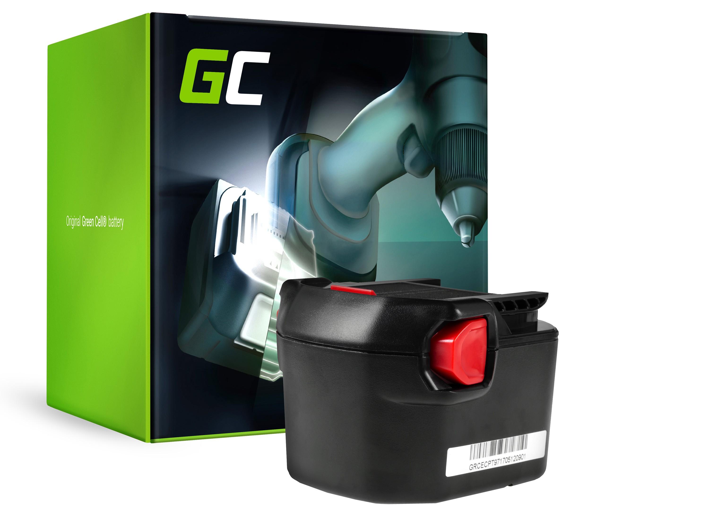 Green Cellverktygsbatteri för AEG B1214G B1215R B1220R 12V 2Ah
