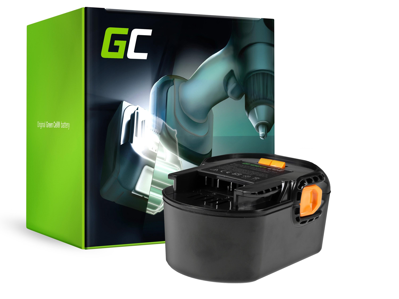Green Cellverktygsbatteri för AEG BS 14 G BS 14 X 14.4V 3Ah
