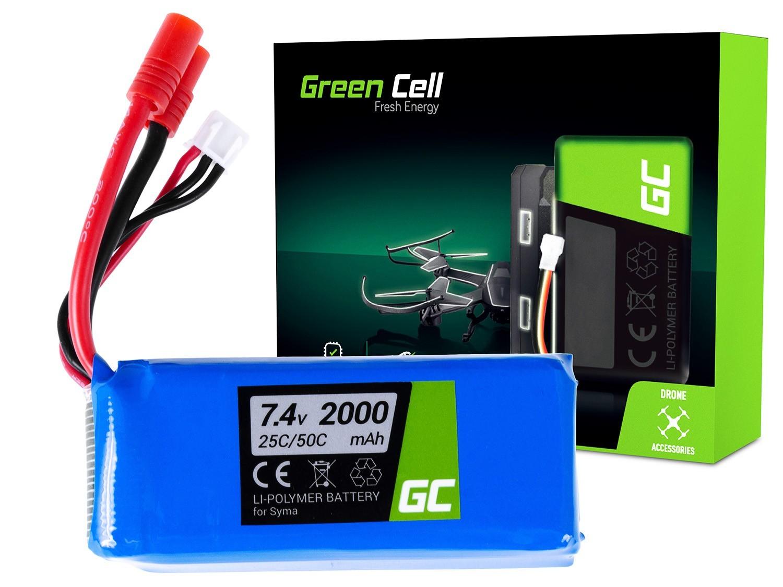 Green Cell RC Batteri för Syma X8C X8G X8HC X8HG X8HW X8W 7.4V 2000mAh