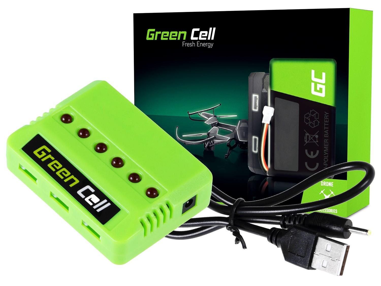 Green Cell Laddare för Syma Hubsan JJRC Wltoys 3.7V