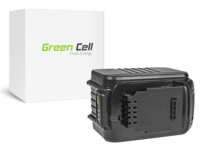 Green Cellverktygsbatteri Dewalt DCB184 DCB182 DCB180 18V 6Ah