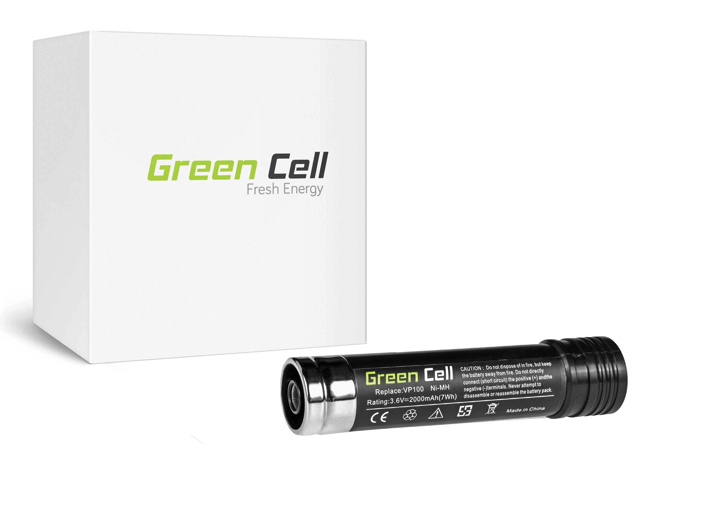 Green Cell verktyg svärta Black & Decker Versapak VP-100 VP100 VP143 VP369 VP7240 3.6V 2Ah