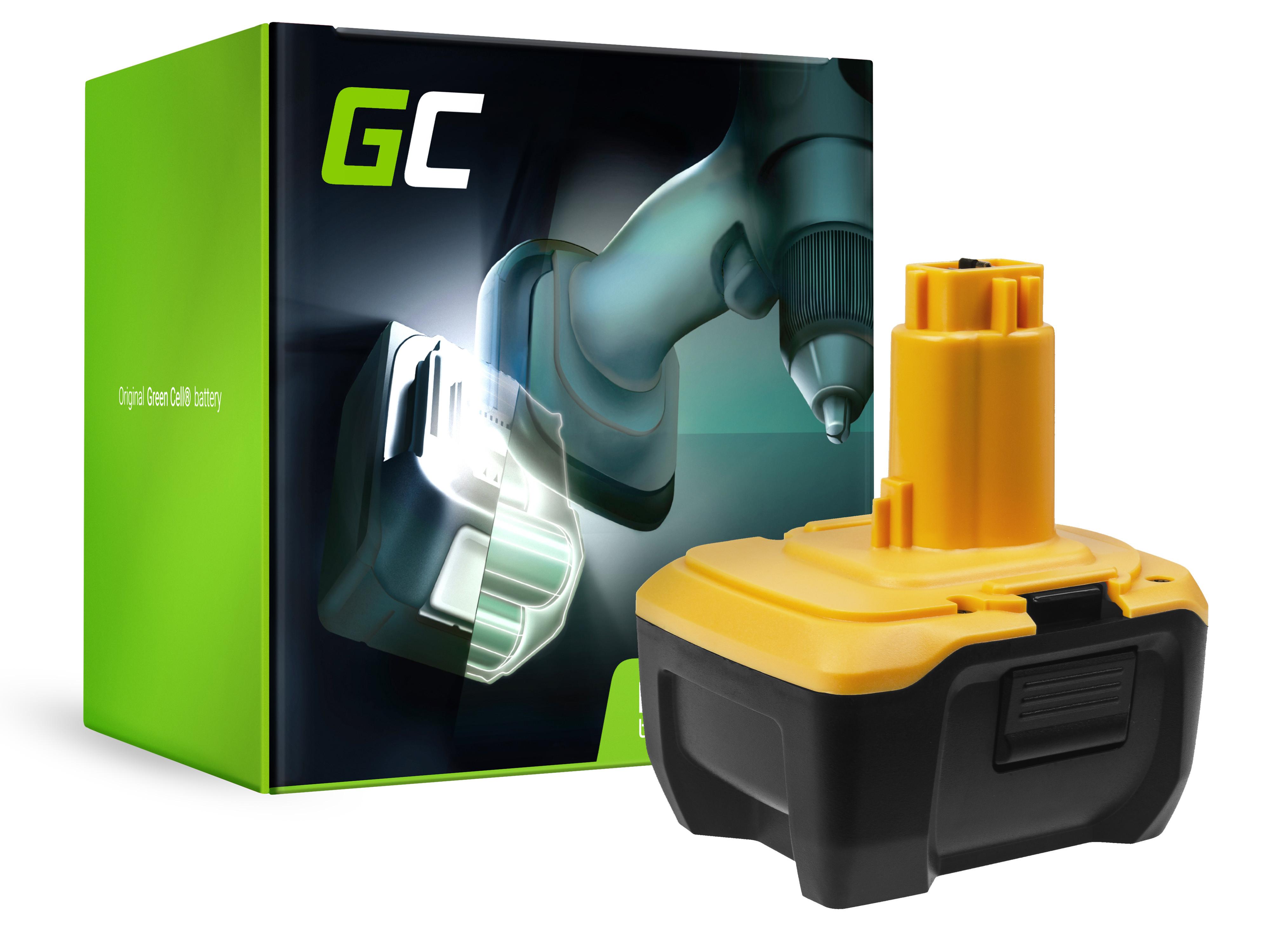 Green Cellverktygsbatteri DeWalt DE9141 DE9140 DC737KL DC733KL DC733C2 14.4V 3Ah