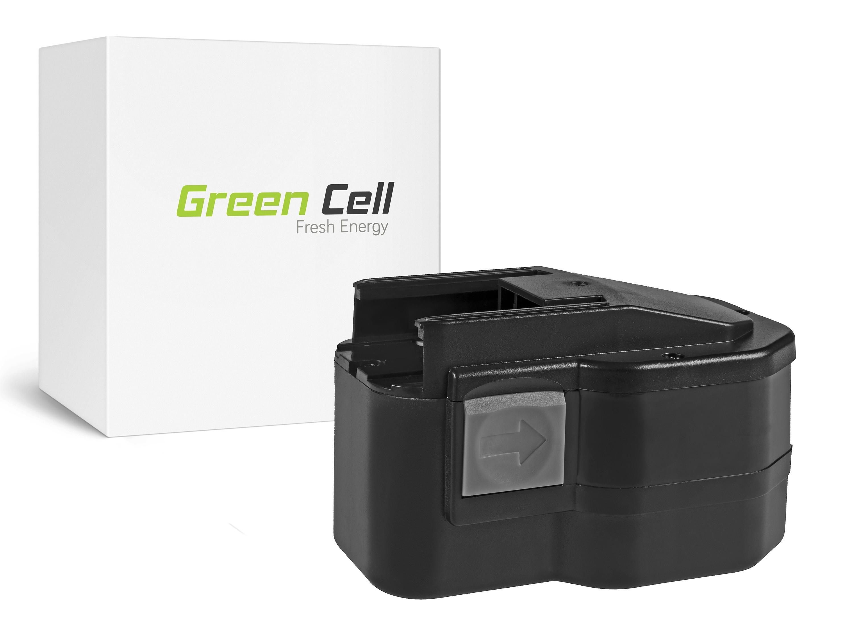 Green Cellverktygsbatteri 4932373540, 4932373541 AEG BBM 14 STX, BS 14 X, BSB 14 STX, AEG SB2E 14 STX 14.4V 3.3Ah