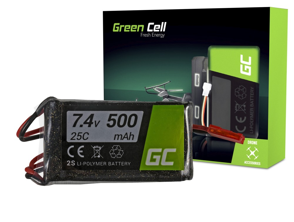 Green Cell RC Batteri 500mAh 7.4V