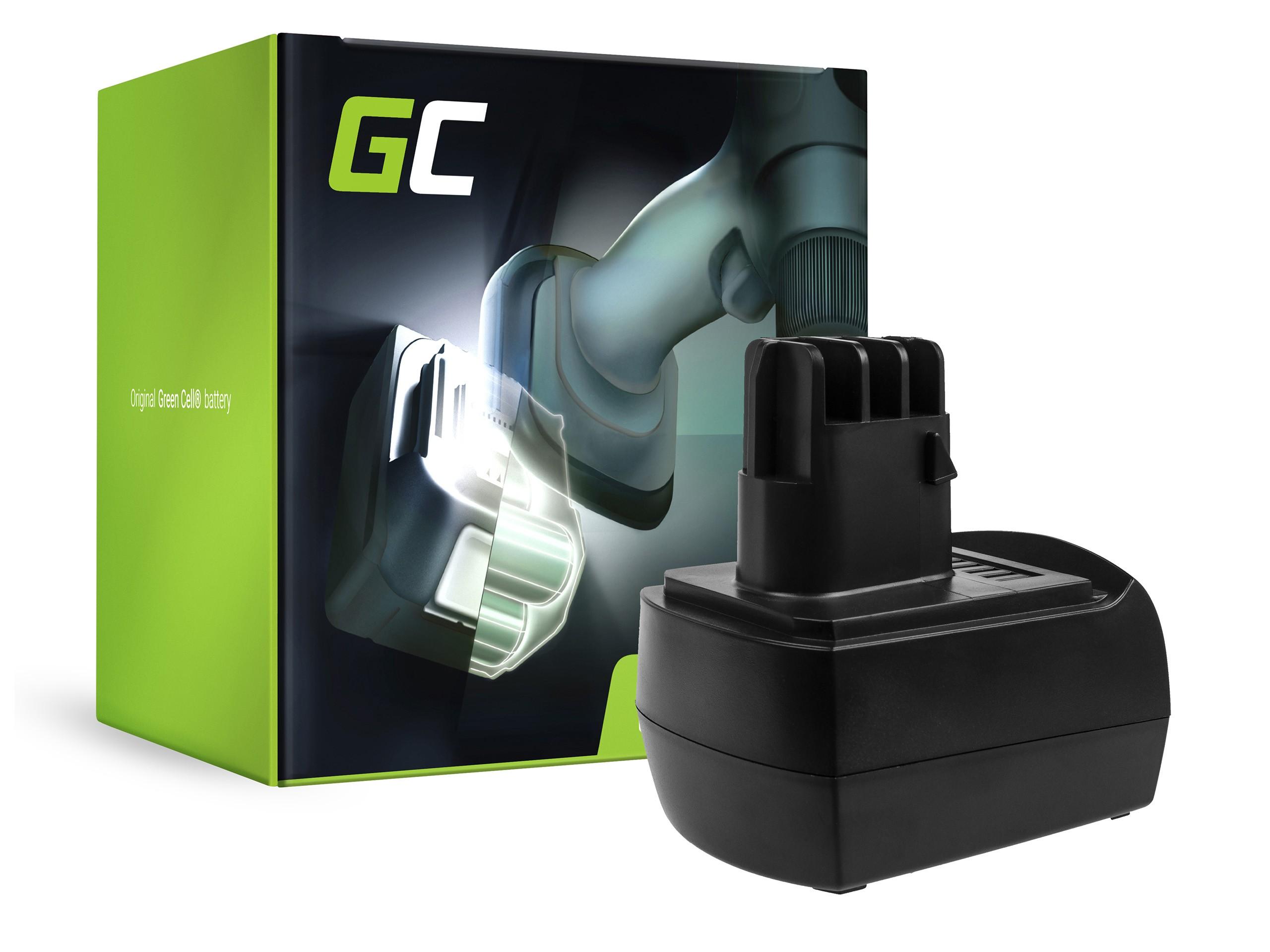 Green Cellverktygsbatteri 9.6V 2.1Ah för Metabo BS BST BSZ BZ 9.6 Impuls SP ULA 9.6-18