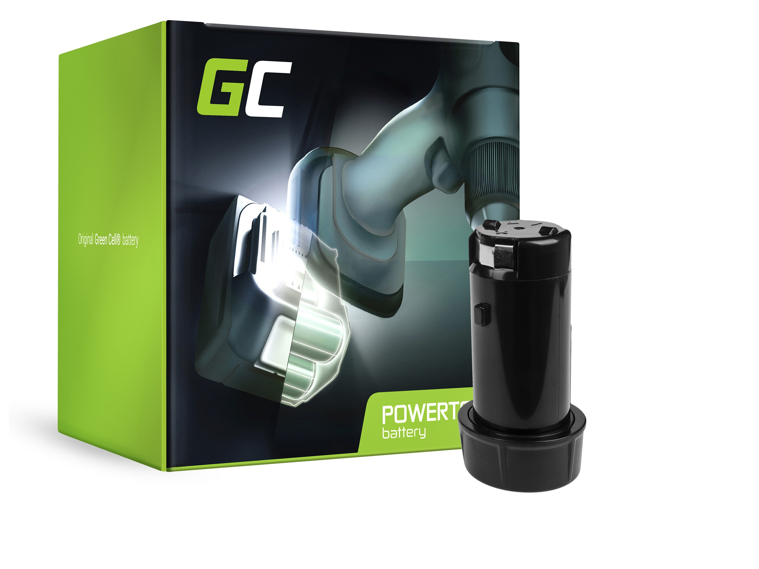 Green Cellverktygsbatteri M4 B2 48-11-0490 48-11-2001 för Milwaukee M4 D-202B M4C M4 2101-20 M4 2101-22 0490-20 0490-22