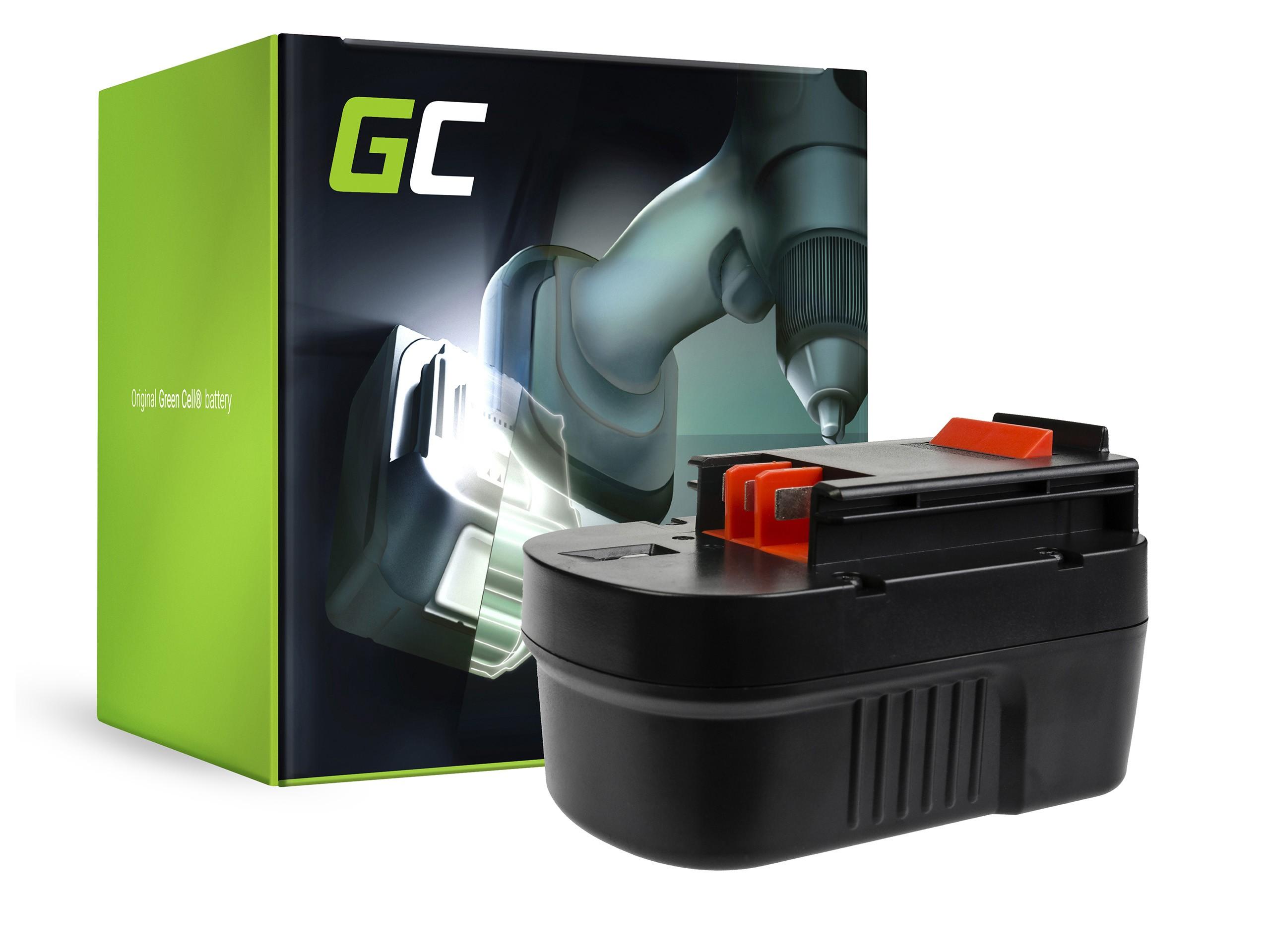 Green Cellverktygsbatteri A14 HPB14 FSB14 för Black&Decker CP14K EPC14 EPC14CA HP142K XTC143 Firestorm FS1400 FS14PS PS142K