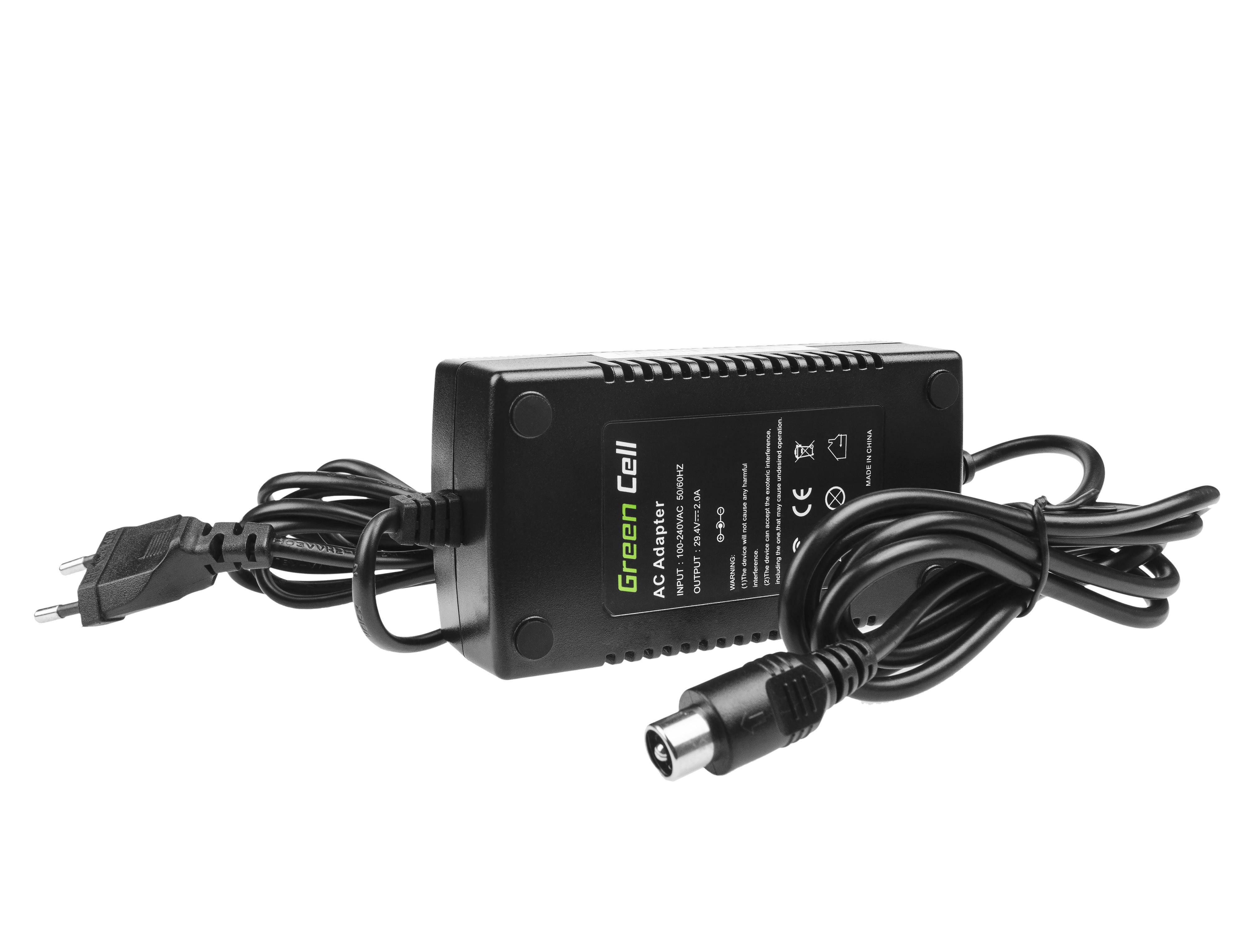 Green Cell Laddare 29.4V 2A (RCA) för EBIKE-batterier 24V