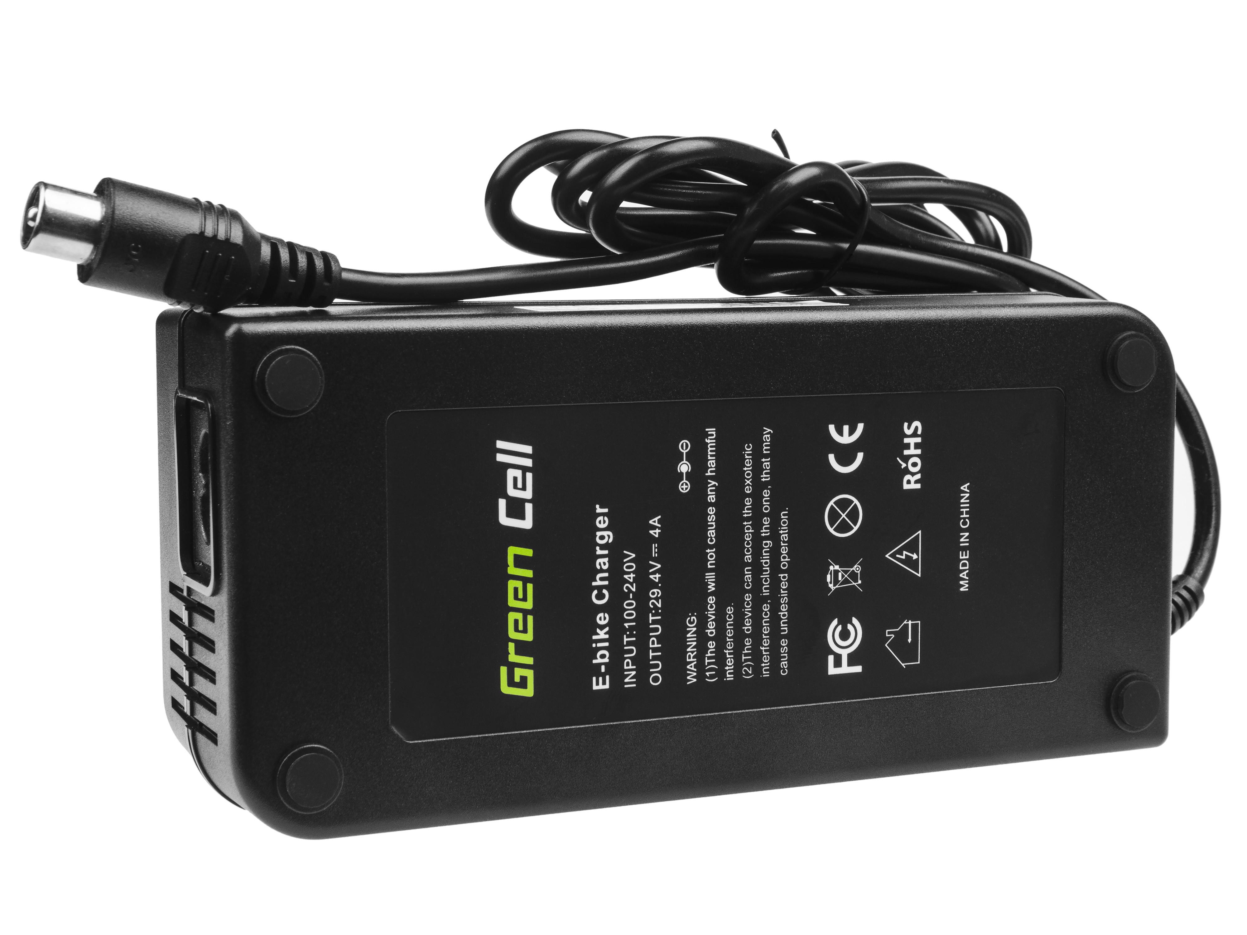Green Cell Laddare 29.4V 4A (RCA) för EBIKE-batterier 24V