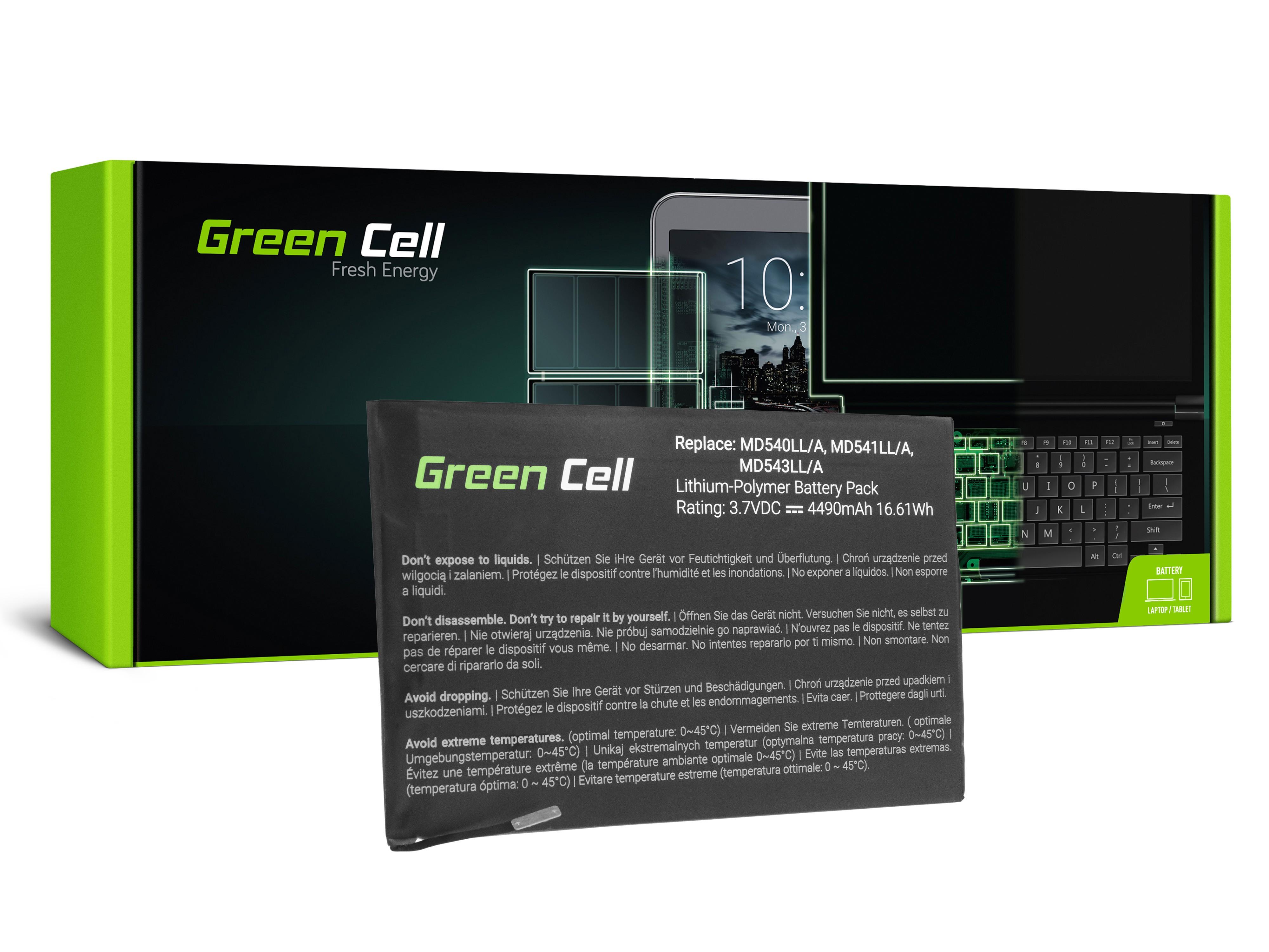 Batteri av Green Cellsurfplatta A1445 Apple iPad Mini A1432 A1454 A1455