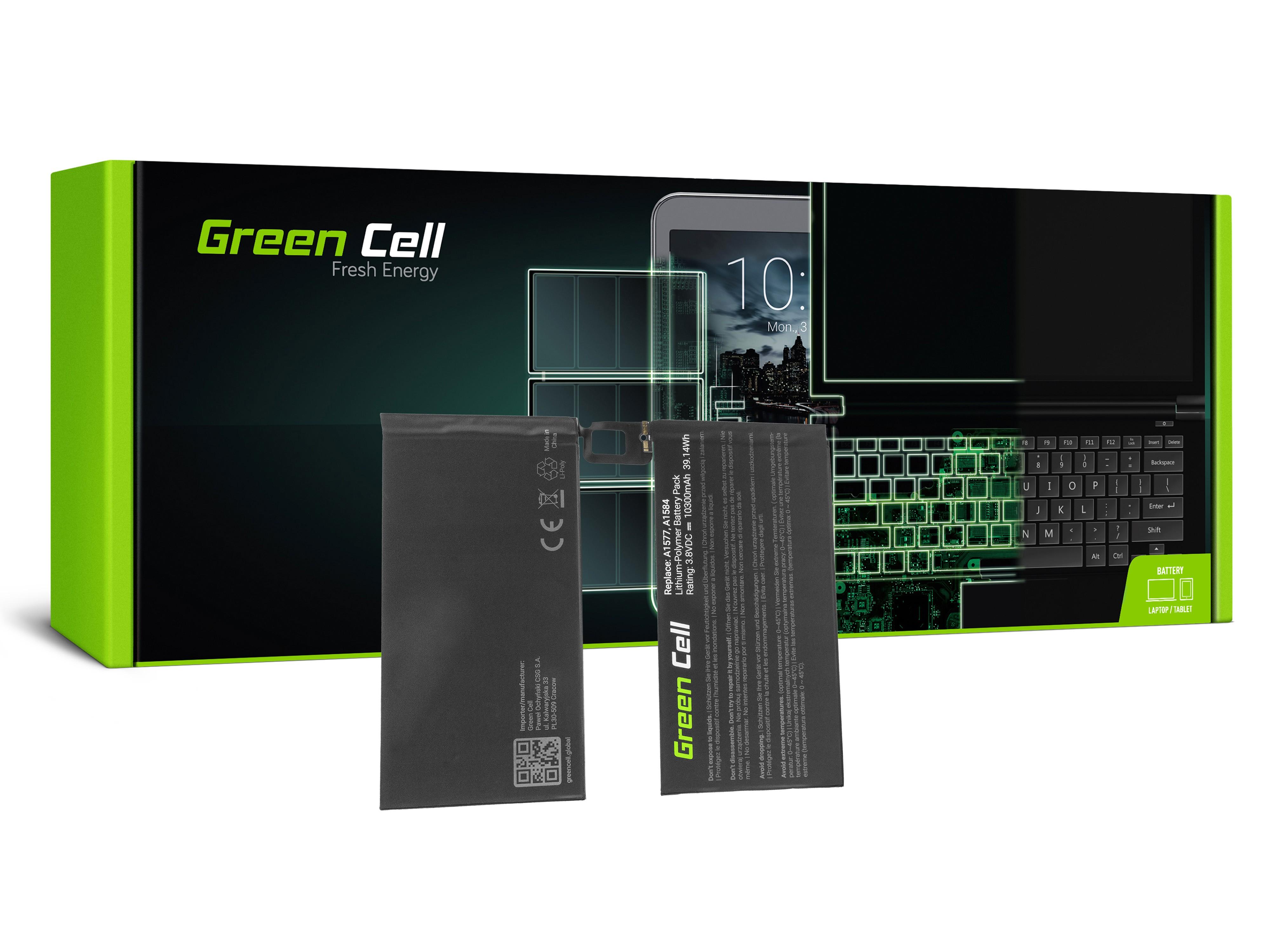 Green Cell sett till batteri av en dator på A1577 Apple iPad Pro 12,9 A1584 A1652