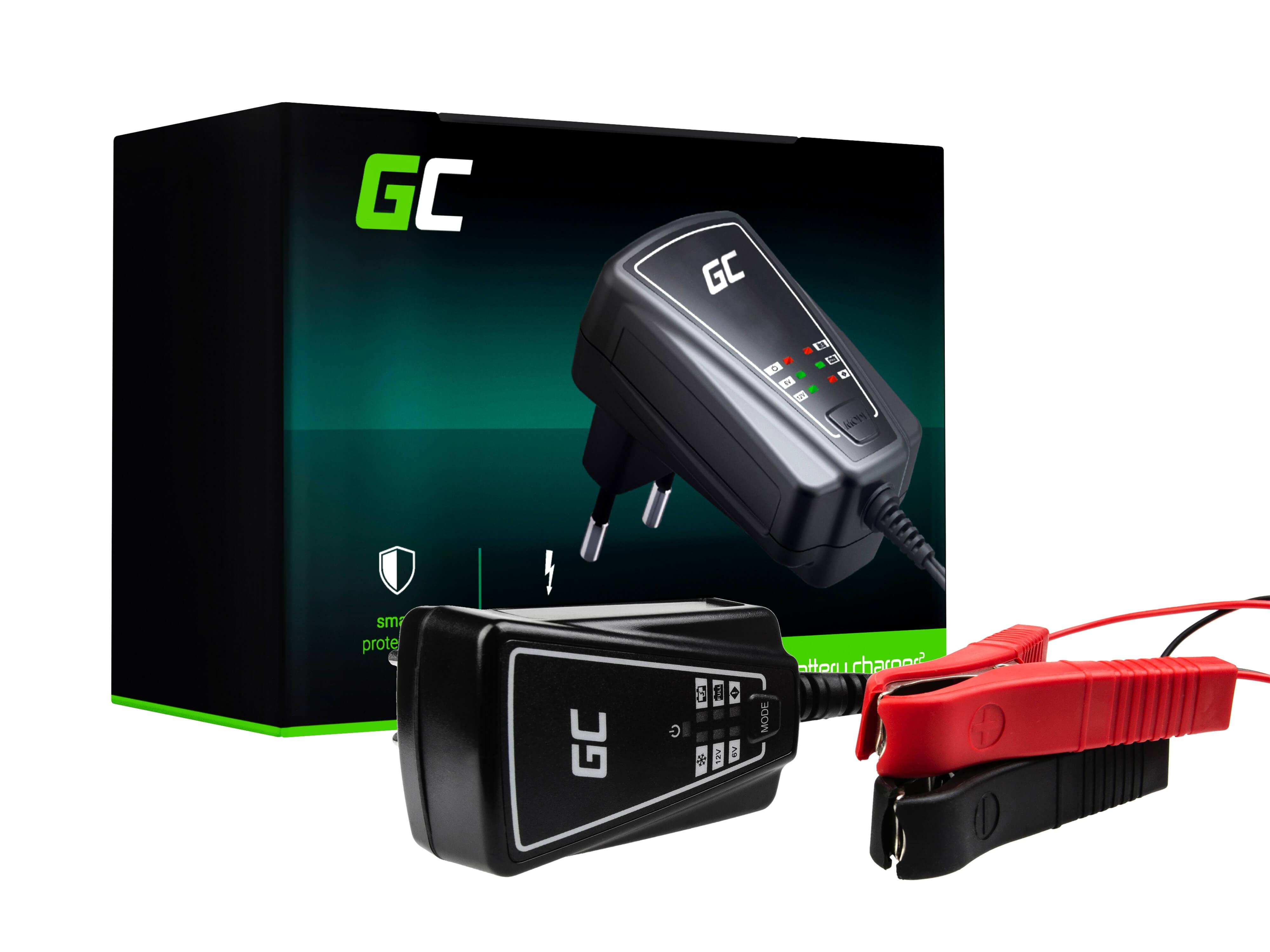Green Cellladdare för ackumulatorer 6V / 12V (1A)