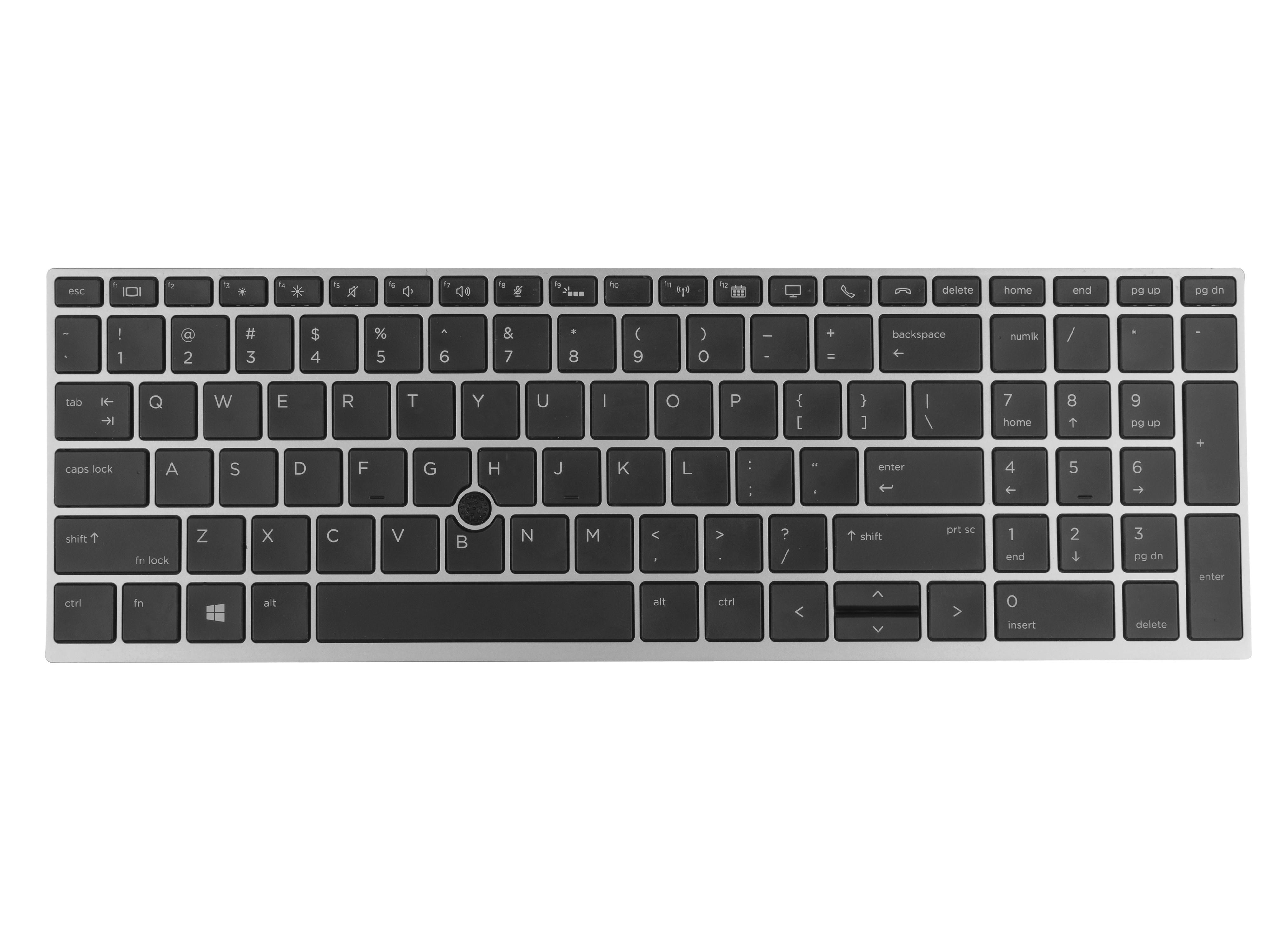 Green Cell tangentbord för HP EliteBook 850 G5 Bakgrundsbelyst