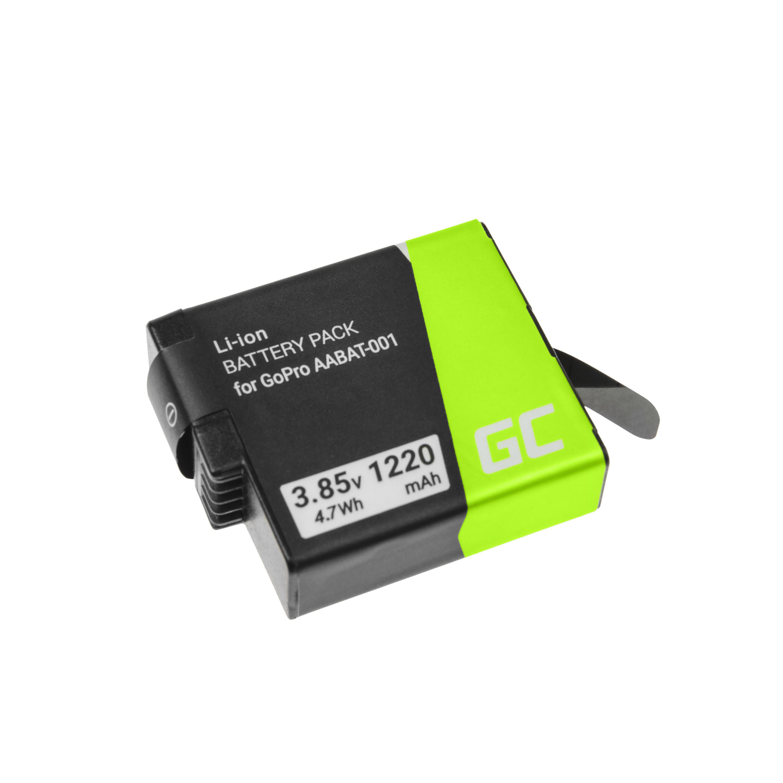Green Cell AHDBT-501 AABAT-001 Kamerabatteri för GoPro HD HERO5 HERO6 HERO7 Svart 3.85V 1220mAh