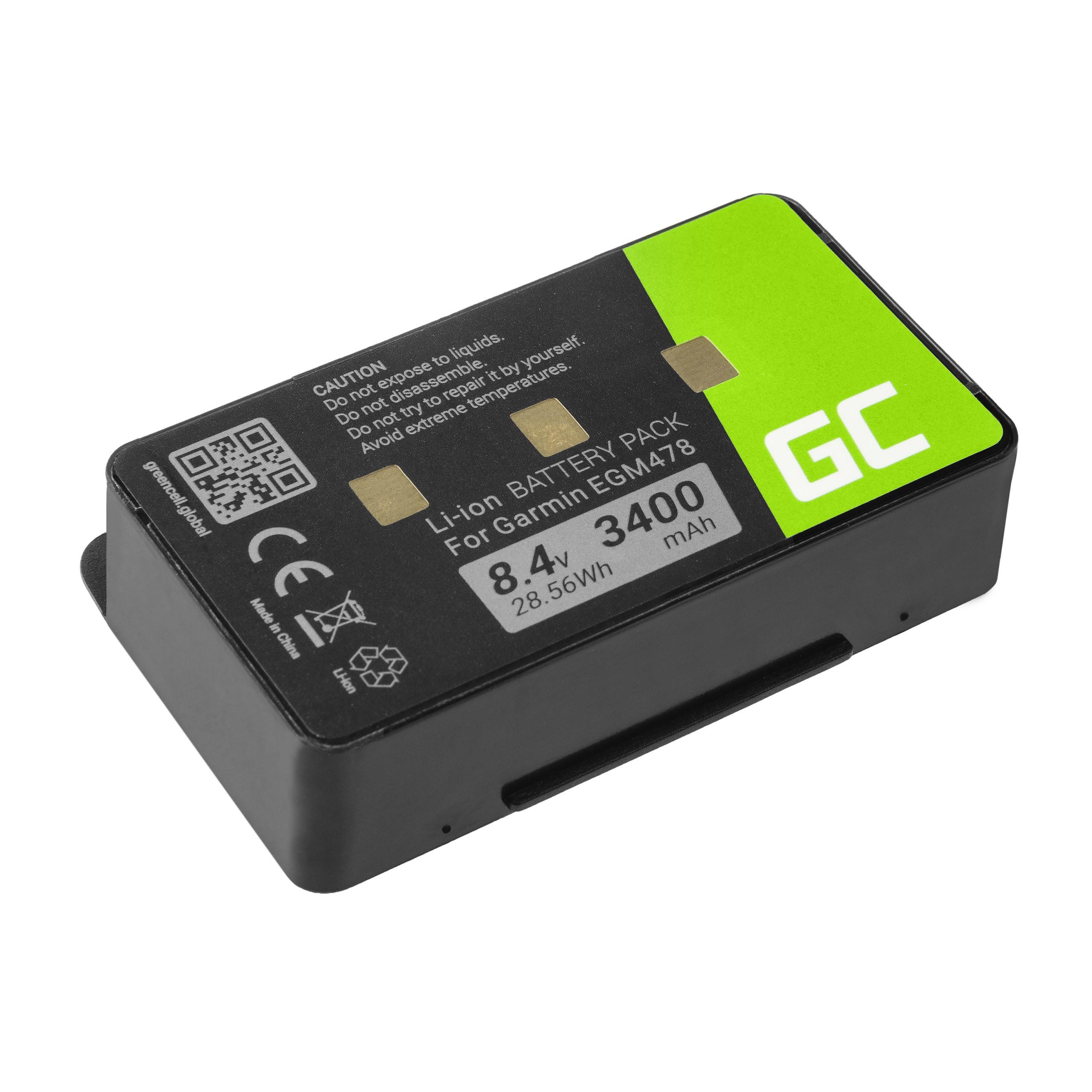 Green Cell 010-10517-00 011-00955-00 GPS-batteri för Garmin GPSMAP 276 296 376 376c 396 495 496