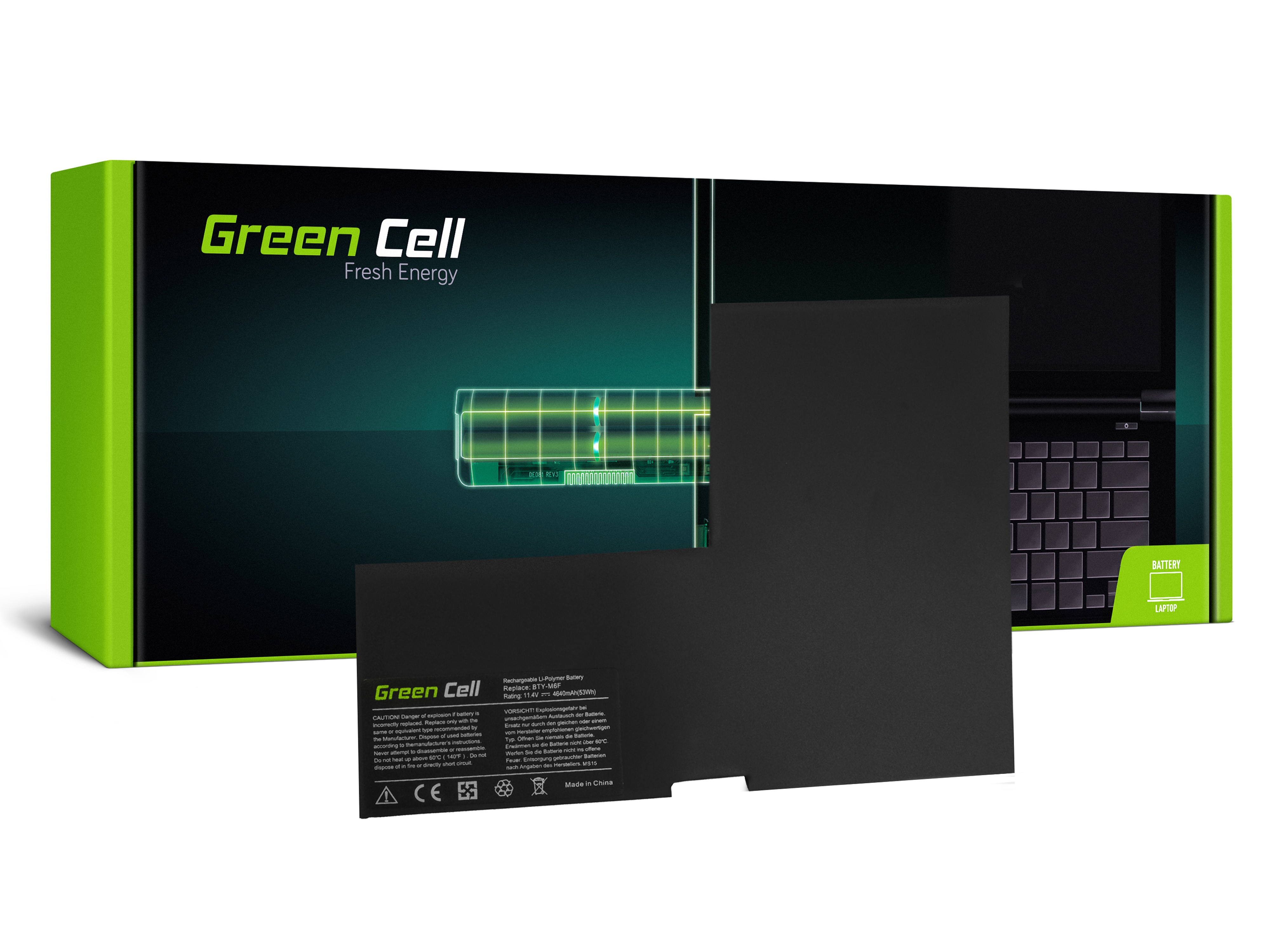Green Cellbatteri BTY-M6F för MSI GS60 PX60 WS60
