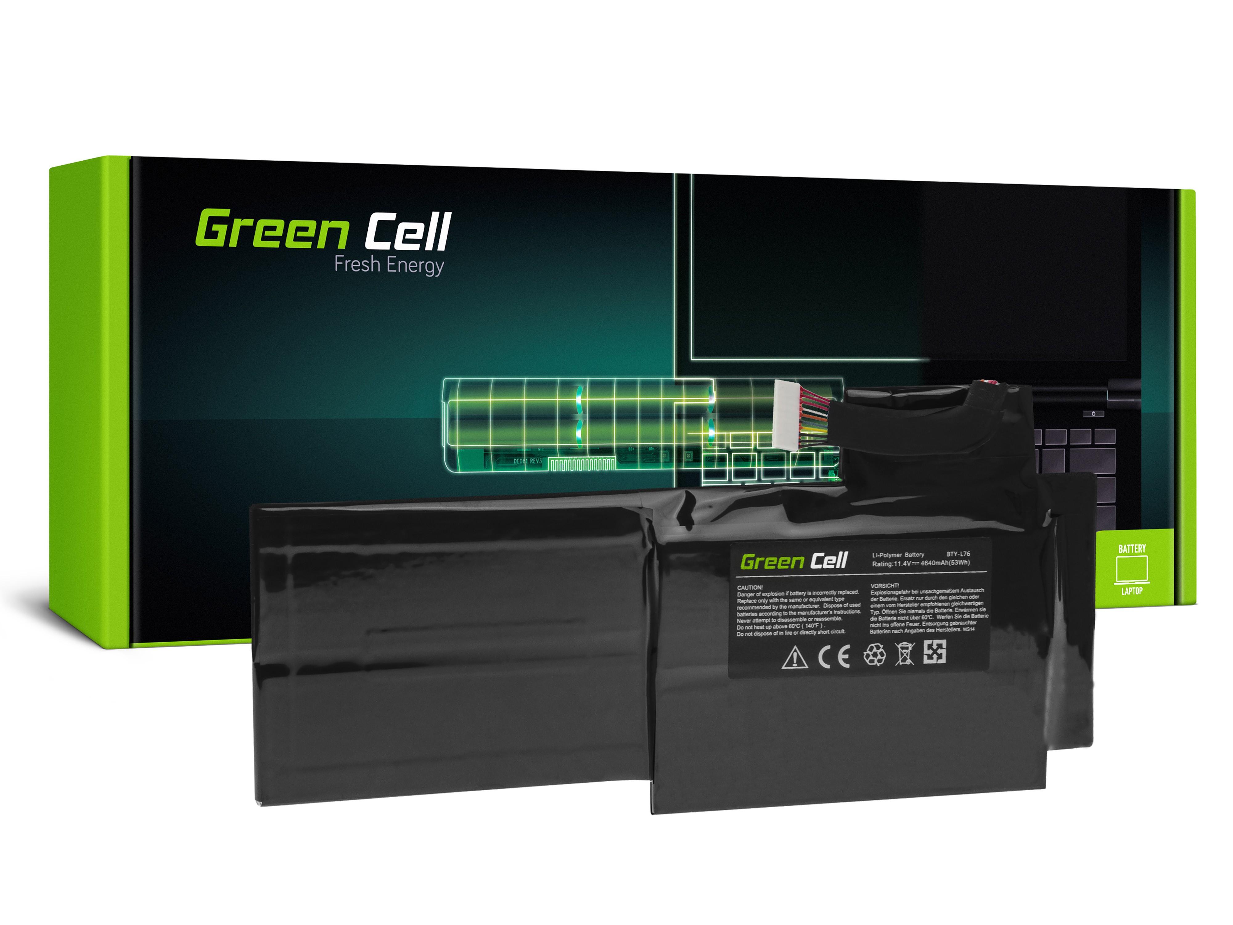 Green Cellbatteri BTY-L76 för MSI GS70 GS72 WS72