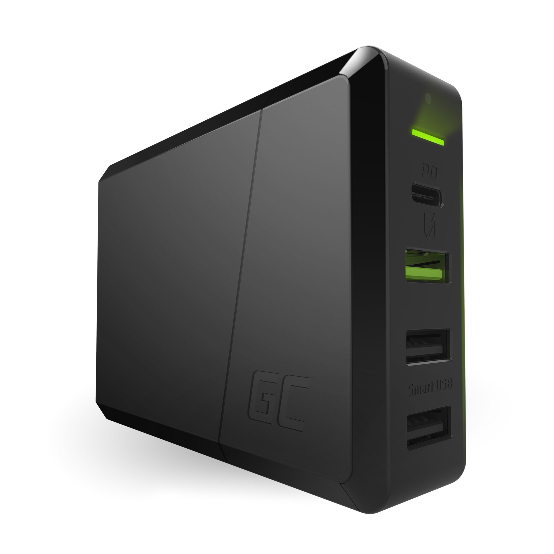 Strömkälla 75W 4-portladdare USB-C PD med ultraboksladdning och Ultra Charge-teknik