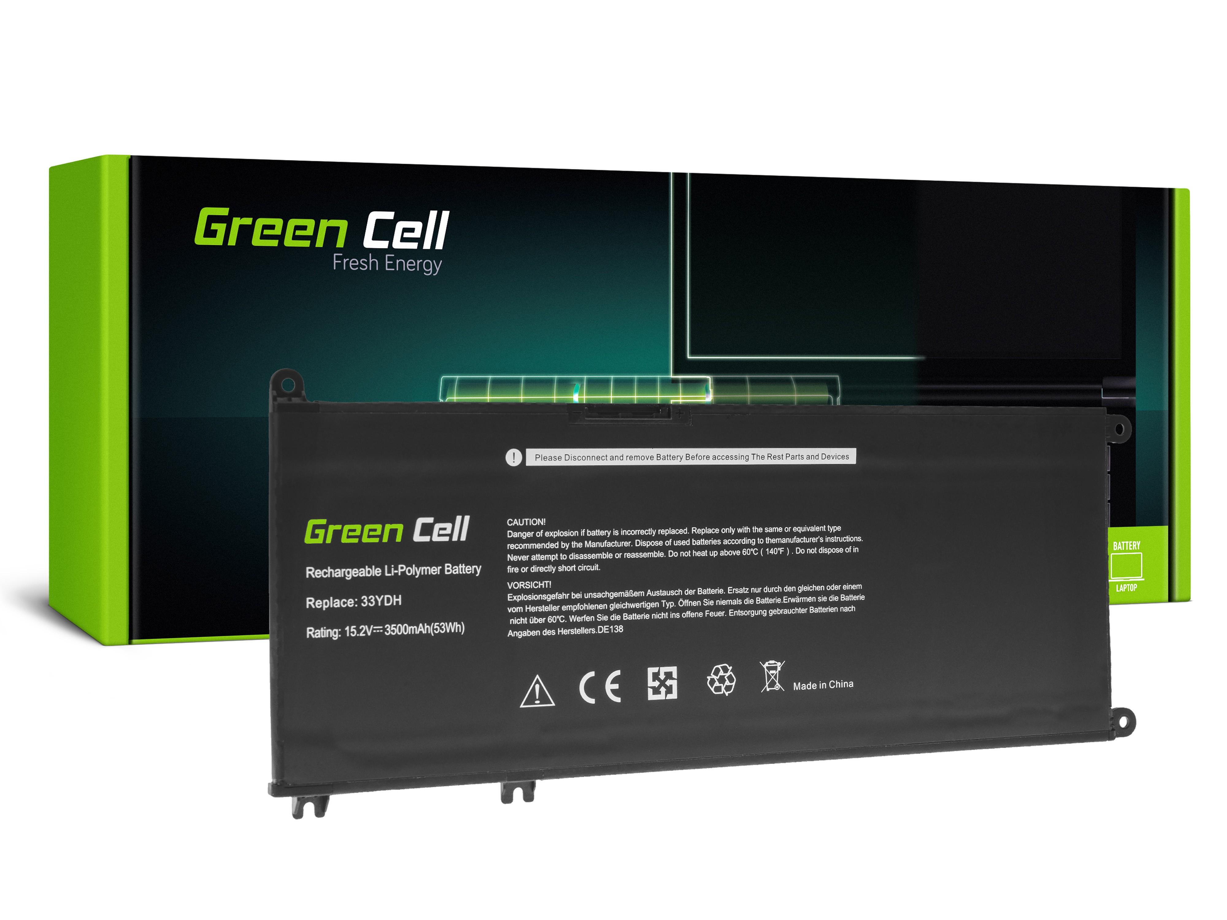 Batteri 33YDH för Dell Inspiron G3 3579 3779 G5 5587 G7 7588 7577 7773 7778 7779 7786 Latitud 3380 3480 3490 3590
