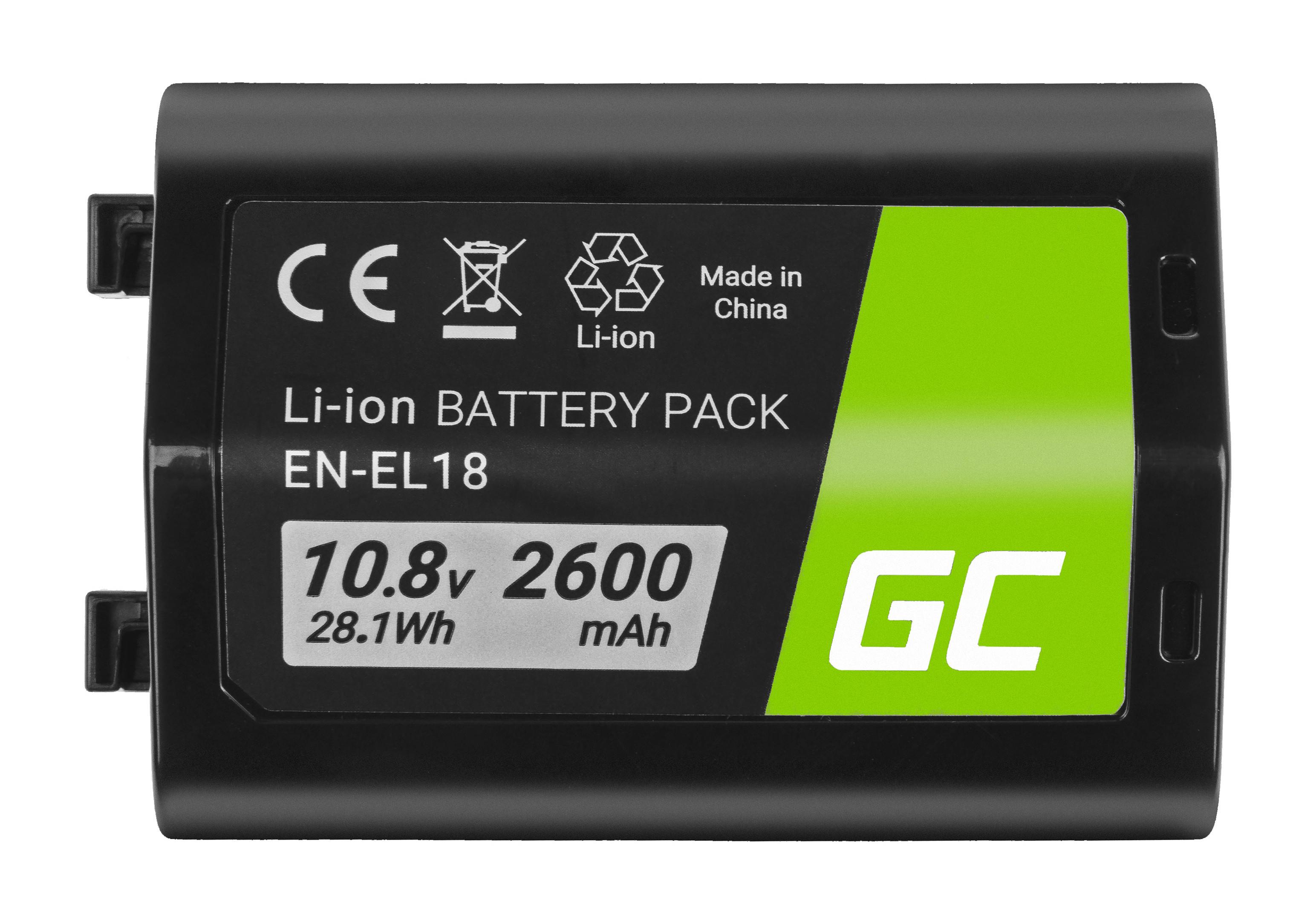 Batteri EN-EL18 ENEL18 do Nikon D4, D4S, D5 10.8V 2600mAh